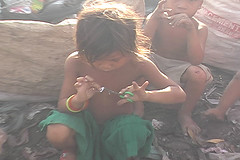 Cambodian child living in garbage dump From 'the Biography of Venetia Joubert', under CCA-SA